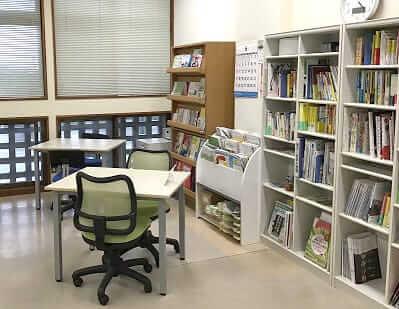[写真]首里当蔵キャンパスの進路相談室の内部