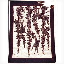 [写真]枝垂れ桜燕模様白地型紙