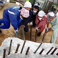 [写真]石彫実習室