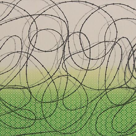 [写真]緑の上に