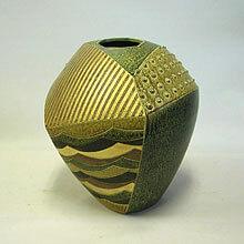 [写真]金彩多面壷