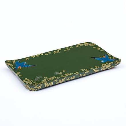 [写真]緑漆沈金堆錦盤『首里の飛翔』
