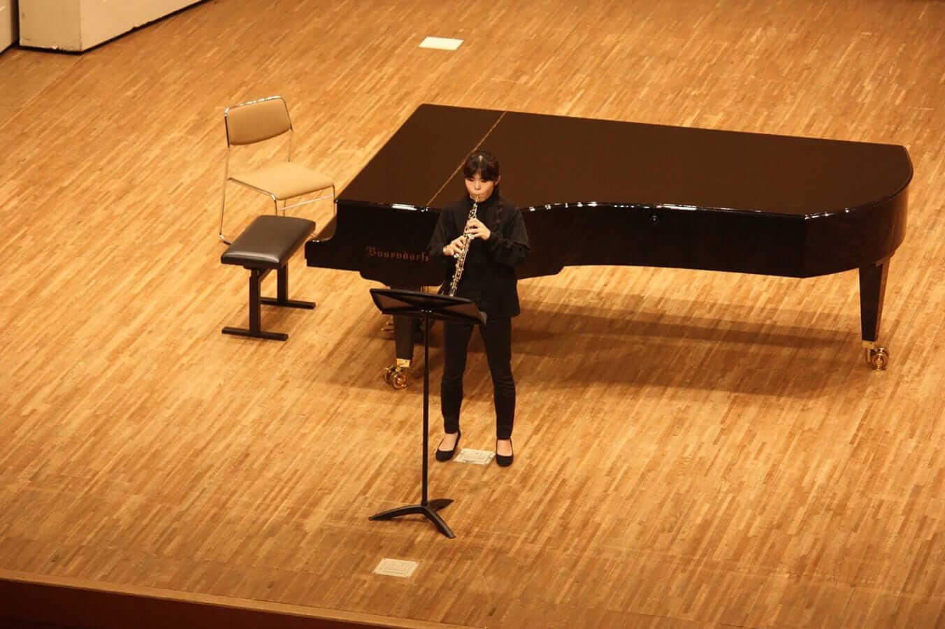 [写真]学内演奏会 ―管打楽コース―演奏風景1
