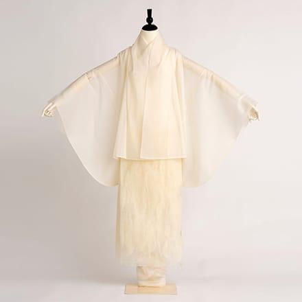 [写真]薄絹羽織衣装「白い鳥」