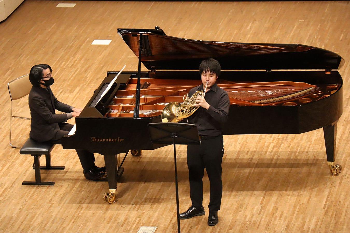 第1回学内演奏会 ―管打楽コース―演奏風景1