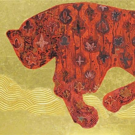 [写真]踊る赤豹