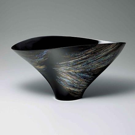 [写真]乾漆蒔絵螺鈿鉢「刹那」