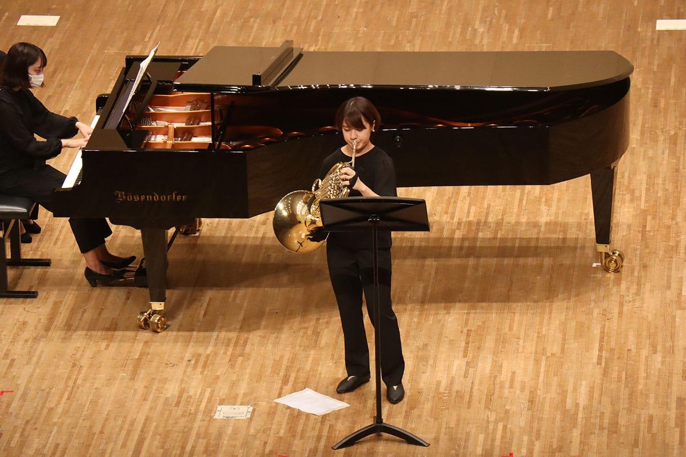 第2回学内演奏会 ―管打楽コース―演奏風景1