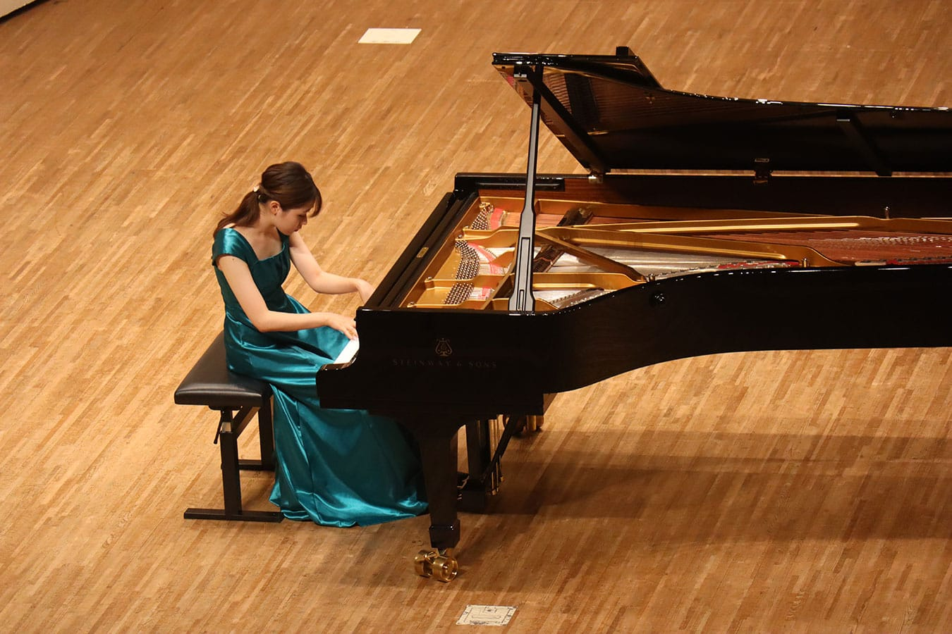 第5回学内演奏会 ―ピアノコース―演奏風景1