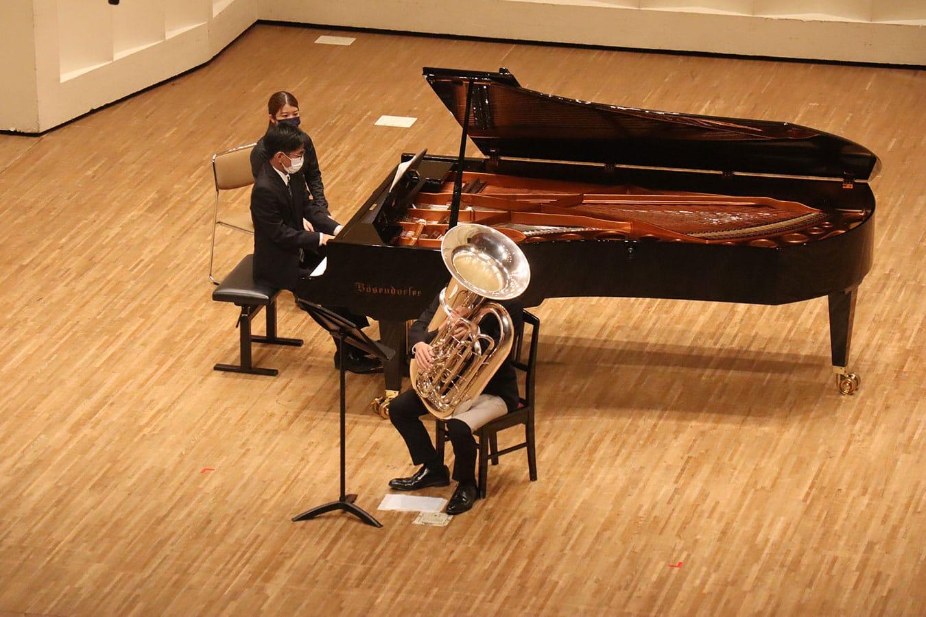 第6回学内演奏会 ―管打楽コース―演奏風景2